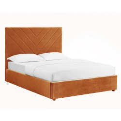 Fabric or Faux Leather Covered Beds