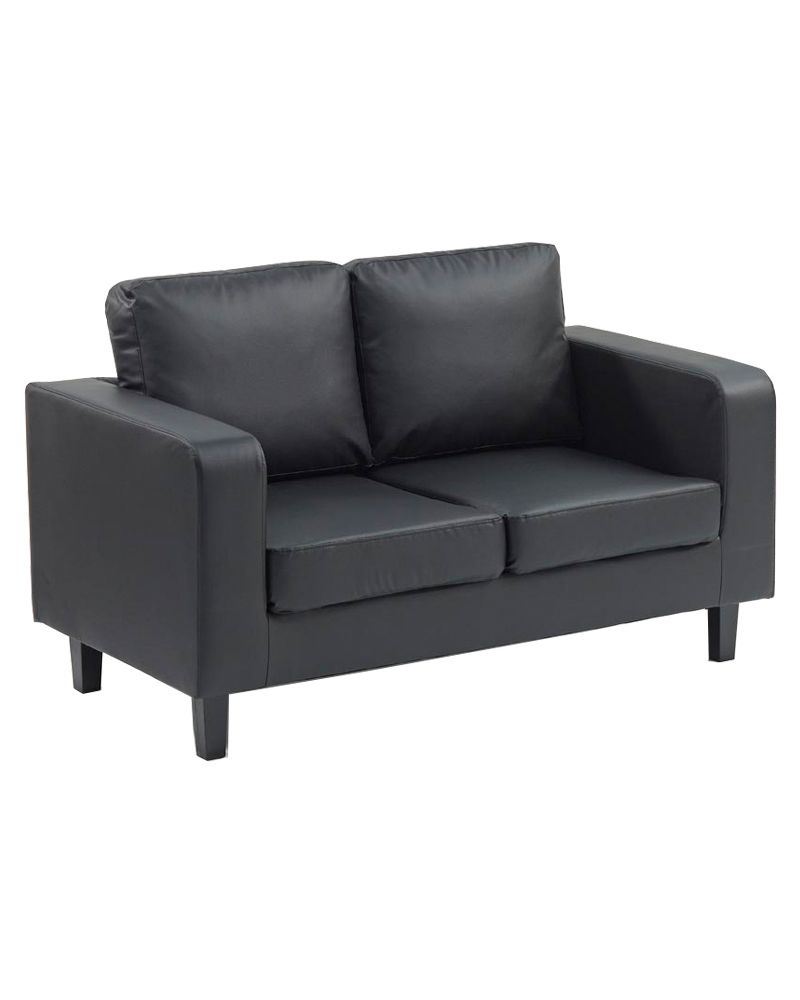 Two Seater Box Sofa (faux Leather)