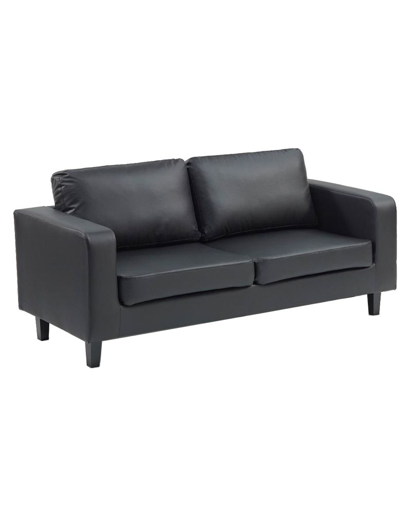 Three Seater Box Sofa (faux leather)