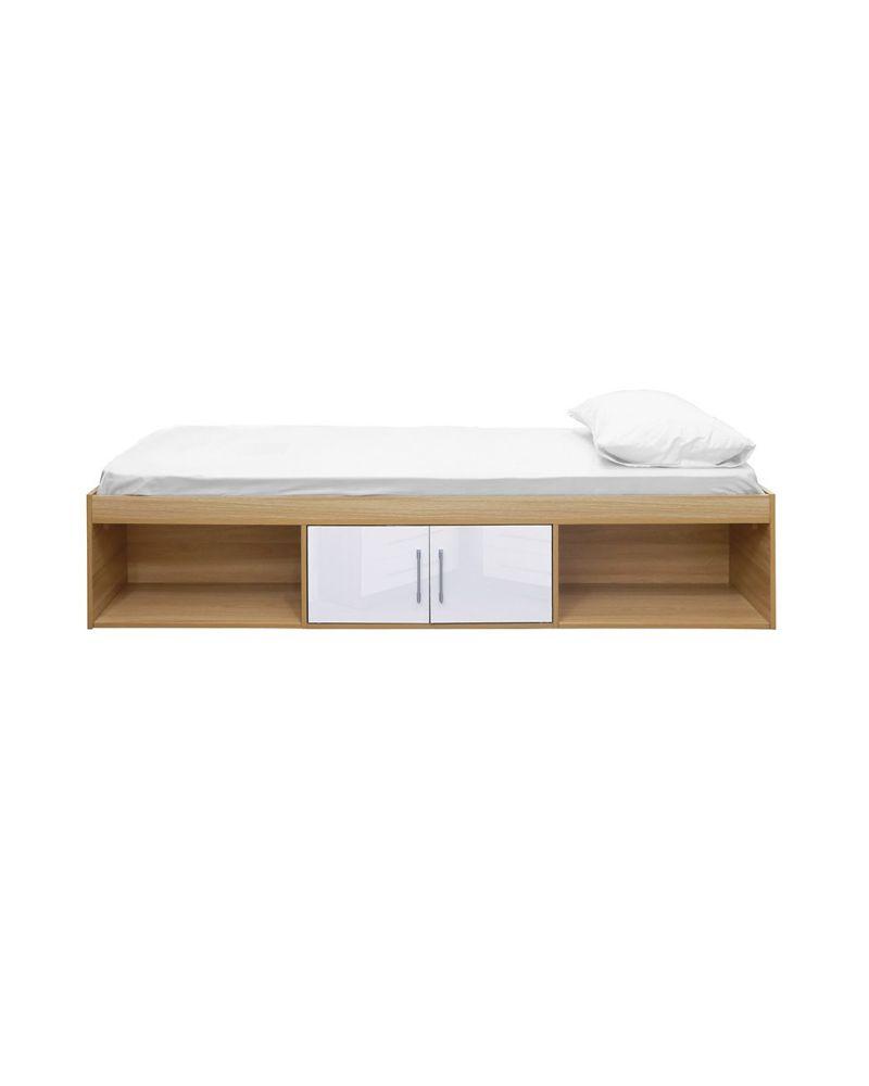 Dakota Single Cabin Bed Frame (White, Blue, Grey or Pink)