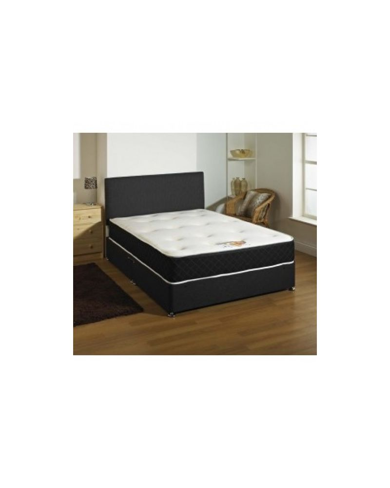 Spring & Memory Foam Top Double Divan Bed