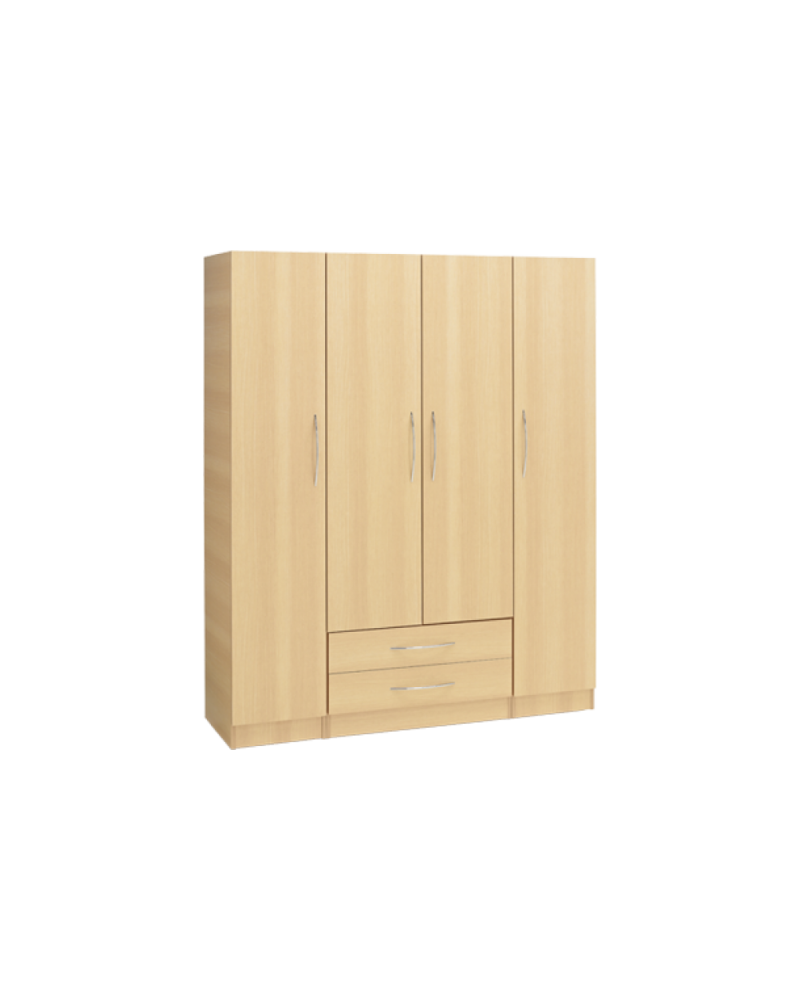 Alaska Four Door Wardrobe with Two Drawers