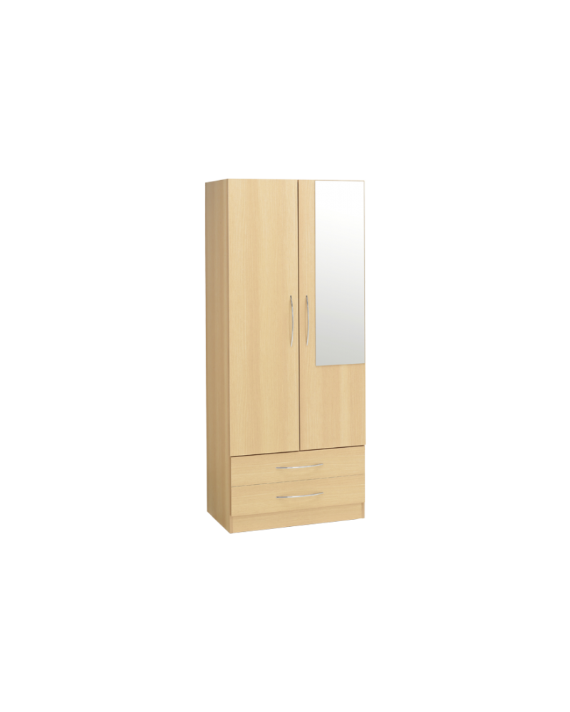 Alaska Two Draw Wardrobe and Mirror